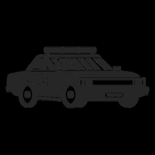 Silueta de coche policía emblema Transparent PNG