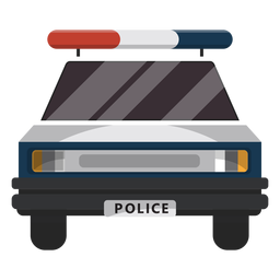 Auto Polizei Blink Illustration