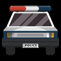Ilustración de la policía de coches intermitente