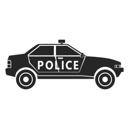 Car police flasher silhouette