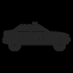 Silhueta de pisca-pisca de polícia de carro