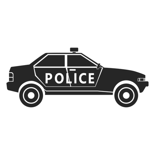 Car police flasher silhouette Transparent PNG