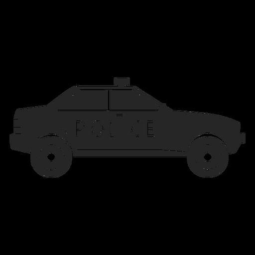 Silhueta de pisca-pisca de polícia de carro Transparent PNG