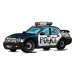 Car police headlight illustration