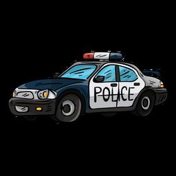 Ilustração de farol de polícia de carro