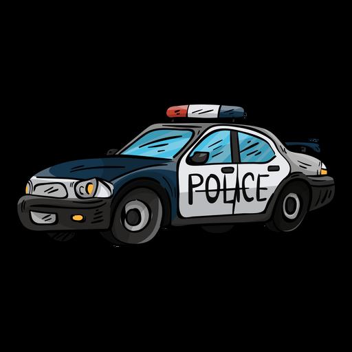 Ilustração de farol de polícia de carro Transparent PNG