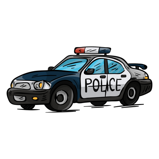 Ilustración de faro de policía de coche Transparent PNG