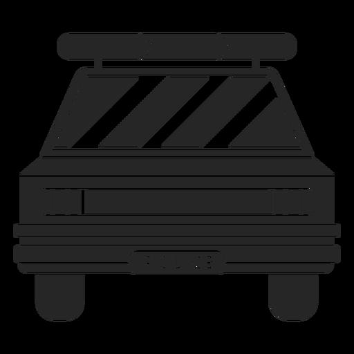 Silhueta de farol de polícia de carro Transparent PNG