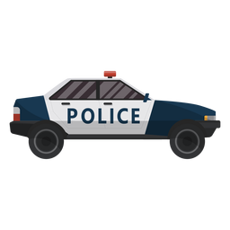 Car police illustration