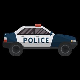 Ilustração de polícia de carro