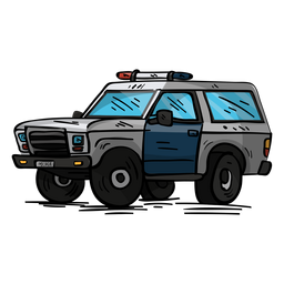 Car police jeep illustration