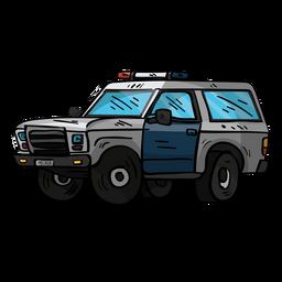 Policía coche ilustración jeep