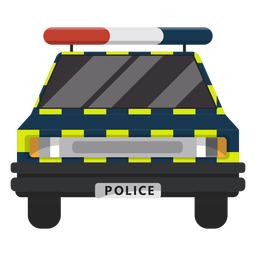 Car police law illustration