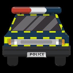 Ilustração de lei de polícia de carro