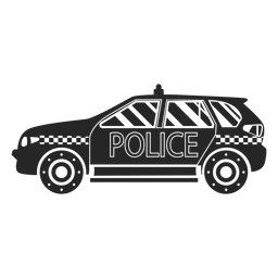 Car police silhouette