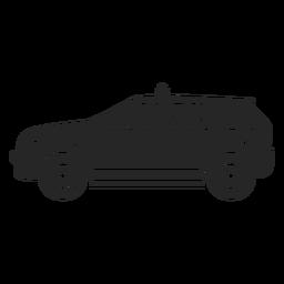 Silhueta de polícia de carro