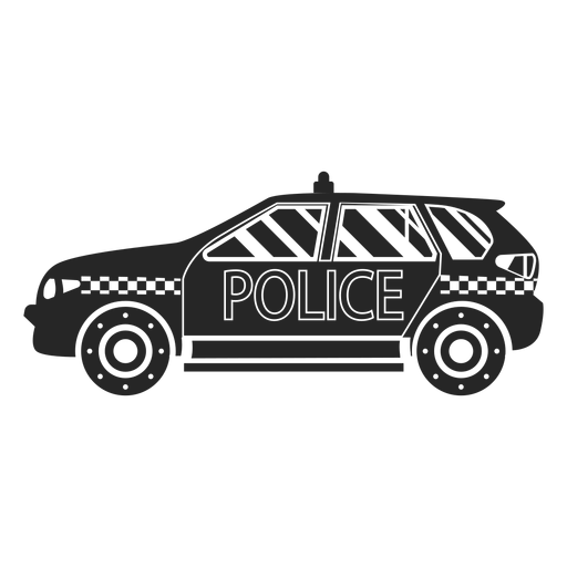 Car police silhouette Transparent PNG