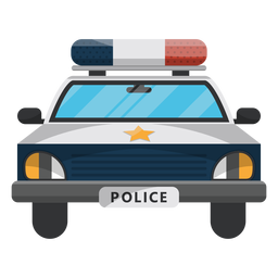 Ilustração de estrela de polícia de carro