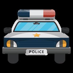 Policía coche estrella ilustración