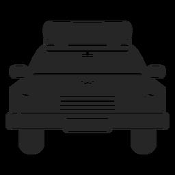 Policía de coche estrella silueta