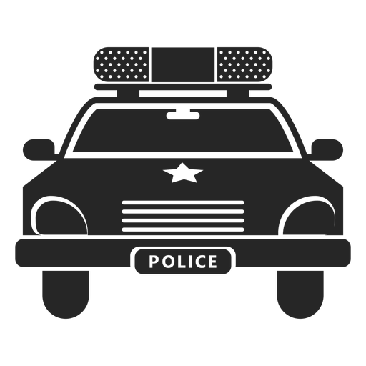 Auto Polizei Stern Silhouette Transparent PNG
