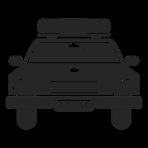 Policía de coche estrella silueta Transparent PNG