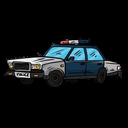 Ilustración de rueda de policía de coche