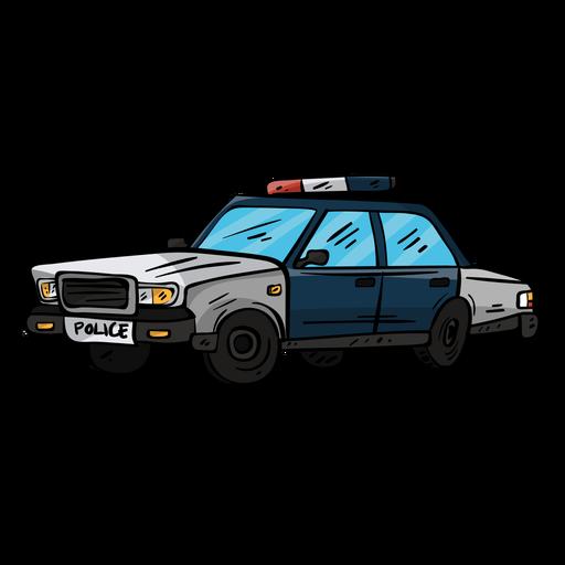 Ilustración de rueda de policía de coche Transparent PNG
