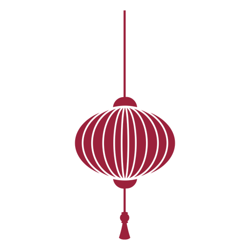 Chinese lantern tassel silhouette Transparent PNG