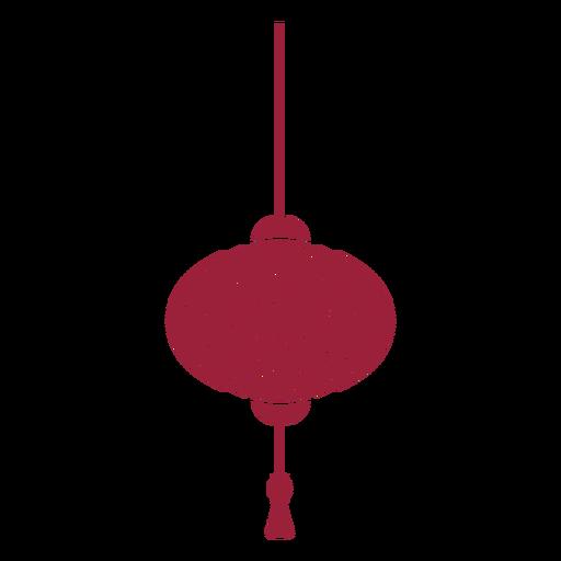 Silhueta de borla de lanterna chinesa Transparent PNG