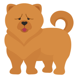 Chow chow dog illustration