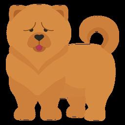 Ilustración de perro chow chow