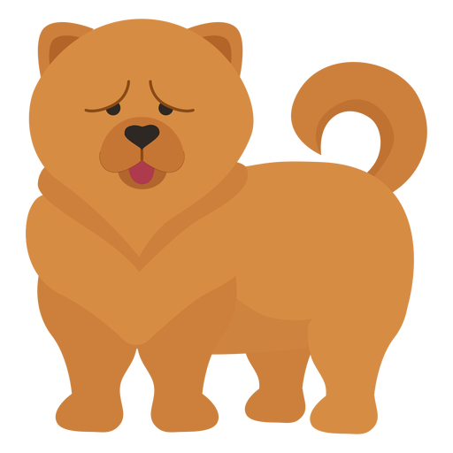 Chow chow dog illustration Transparent PNG