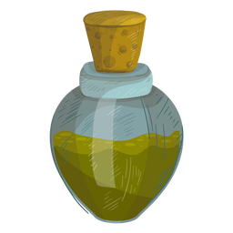 Cork bottle liquid illustration