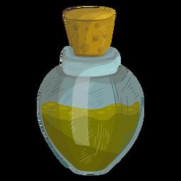 Garrafa de cortiça líquido ilustração