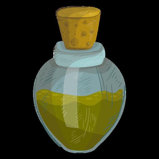 Ilustración de líquido botella de corcho Transparent PNG
