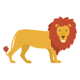 Cute lion illustration