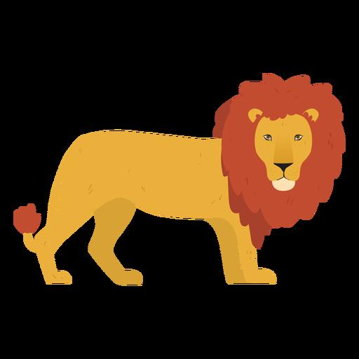 Linda ilustración de león Transparent PNG