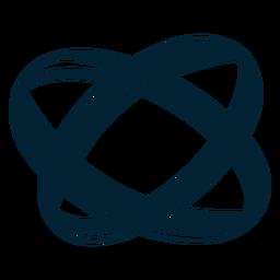 Niedliche ring silhouette