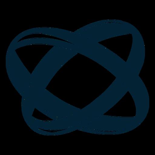 Linda silueta del anillo Transparent PNG