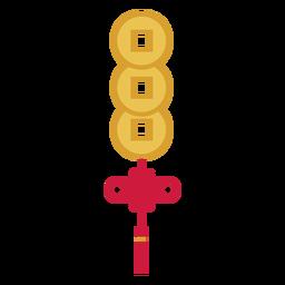 Botón de decoración plana
