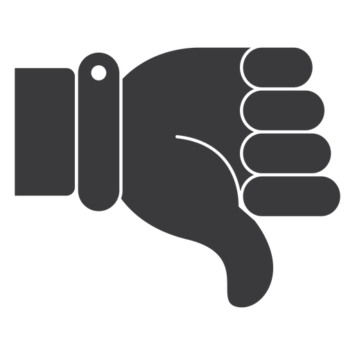 dislike hand thumb silhouette transparent png svg vector