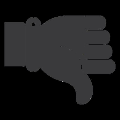 Não gosto de silhueta de polegar de mão Transparent PNG