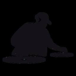 DJ-Karikaturschattenbild