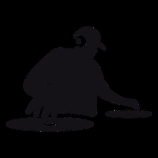 DJ-Karikaturschattenbild Transparent PNG