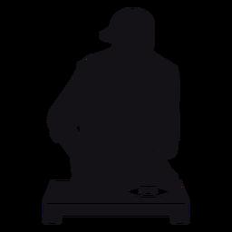 Silhueta do misturador do DJ