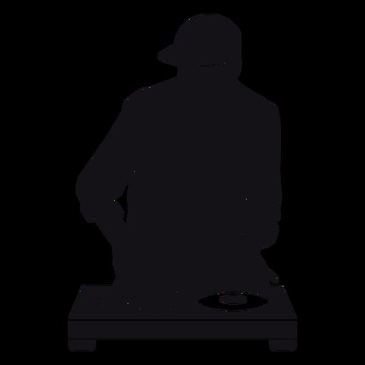 Dj mixer silhouette