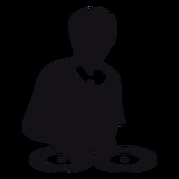 Dj music silhouette