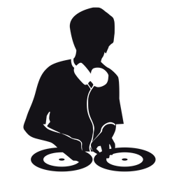 Silueta de la musica de dj
