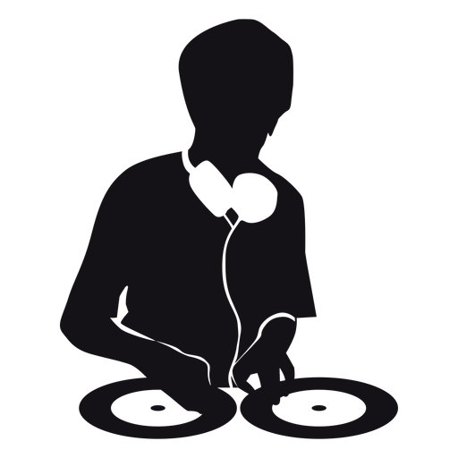 Dj music silhouette Transparent PNG